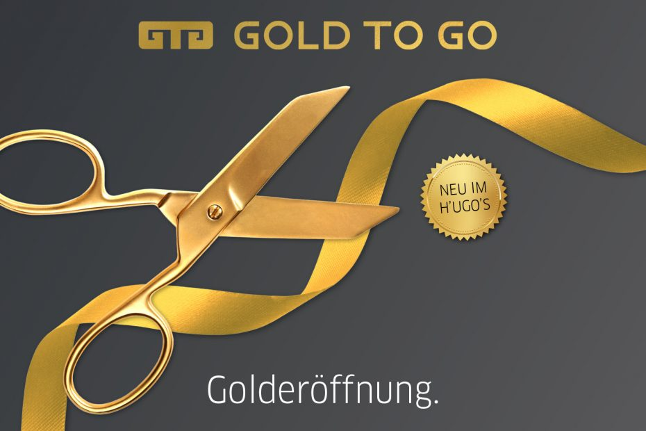 GOLD TO GO Automaten Launch im H'ugo's